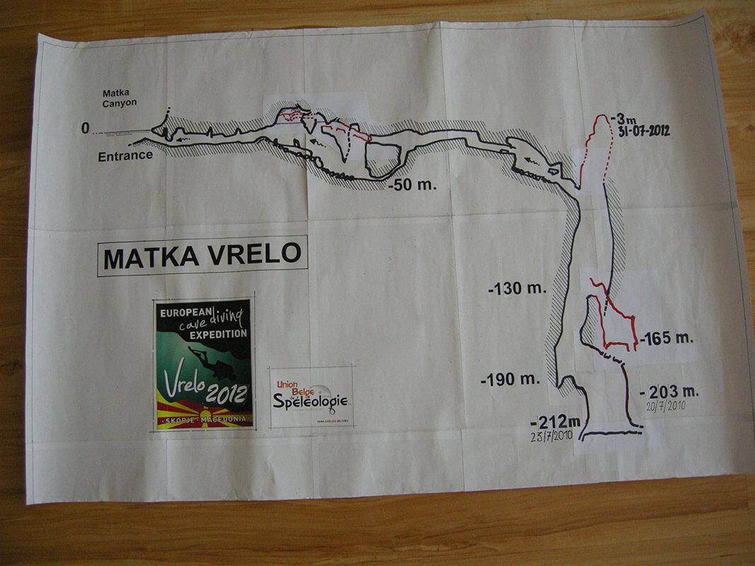 Vrelo Mağarası Harita