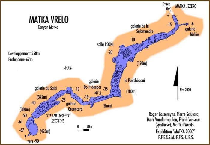 Vrelo Mağarası Haritası