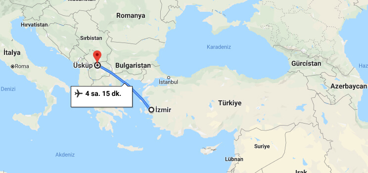 İzmir'den Üsküp'e Nasıl Gidilir?